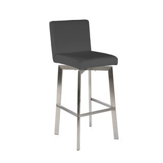 Aurelle Home Modern Swivel Counter Stool Grey