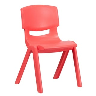 Red Plastic Stacking Chair