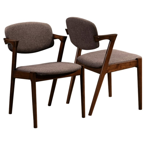 romm mid-century modern dining chairs (set of 2) - free shipping