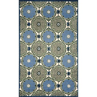 Ornamental Circles Outdoor Rug (2' x 3')