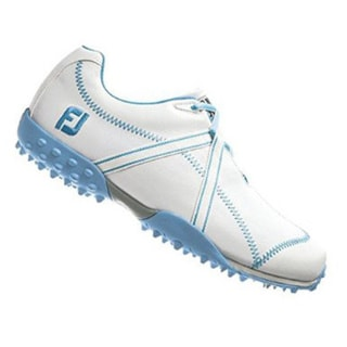 FootJoy Womens M Project 95656 White/ Blue Spikeless Golf Shoes