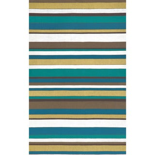 Multi Stripe Outdoor Rug (2' x 3')