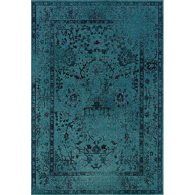 Style Haven Teal/ Grey Area Rug (5' x 7'6) - (As Is Item)...