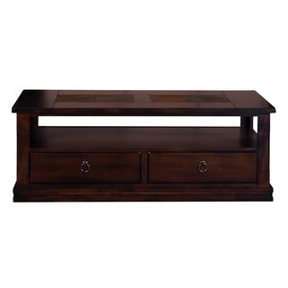 Sunny Designs Santa Fe Coffee Table with Storage Drawers and Casters