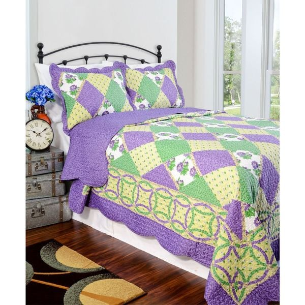 Slumber Shop Julia Reversible 3-piece Quilt Set
