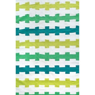 Fence Stripe Outdoor Rug (7'6 x 9'6)