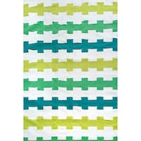 Fence Stripe Outdoor Rug (7'6 x 9'6) - 7'6 x 9'6