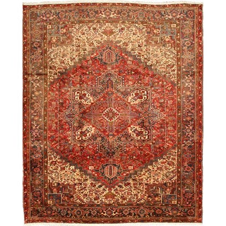 EORC Hand Knotted Wool Red Heriz Rug (10'4 x 12'6)