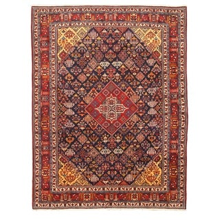 EORC Hand Knotted Wool Navy Mei-Mei Rug (9'4 x 12'3)