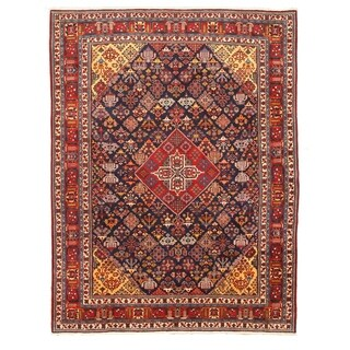 Hand-knotted Wool Blue Traditional Oriental Mei-Mei Rug (9'4 x 12'3)