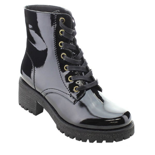 Shop Wild Diva VELDA-01 Women s Military Lace Up Combat Boots - Free ... a2c9bd68c2