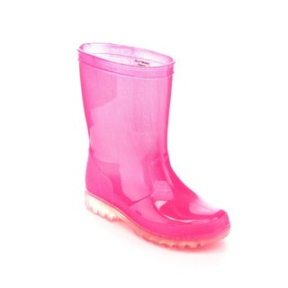 Jelly Beans LIGHT Girls' Lighted Solid Color Rain Boots
