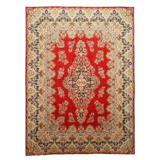 EORC Hand Knotted Wool Red Kerman Rug (10'2 x 13'6)