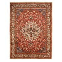 Hand-knotted Wool Rust Traditional Oriental Bakhtiar Rug (10'3 x 13'9)
