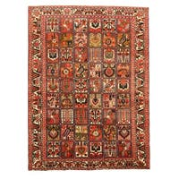Hand-knotted Wool Traditional Oriental Bakhtiar Rug (6'10 x 9'2)