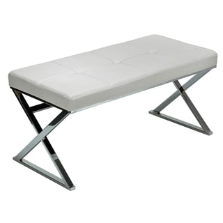 Zio Contemporary White Entryway Bench