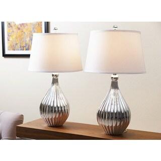 ABBYSON LIVING Sienna Silver Chrome Table Lamp (Set of 2)
