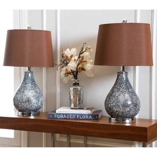 ABBYSON LIVING Camille Mosaic Glass Table Lamp (Set of 2)