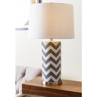 ABBYSON LIVING Madison Grey Chevron Table Lamp