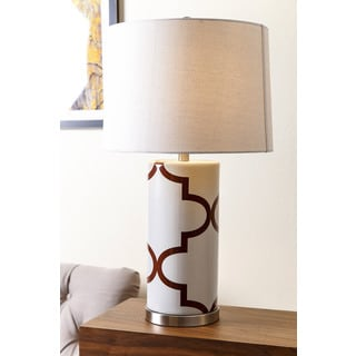ABBYSON LIVING Madison Brown Lattice Table Lamp