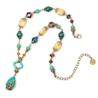 Sweet Romance Lizard Southwest Gemstone Y Necklace