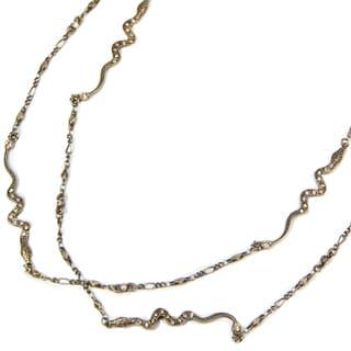 Sweet Romance Art Deco Snake Serpent Long Necklace