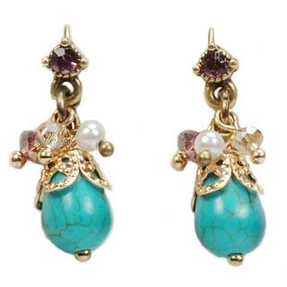 Sweet Romance Magnesite Cluster Dangle Earrings