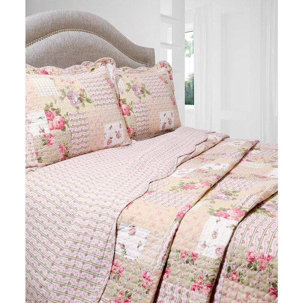 Slumber Shop Rosemary Reversible 3-piece Quilt Set