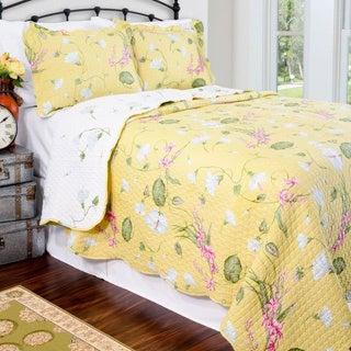 Slumber Shop Tara Reversible 3-piece Quilt Set