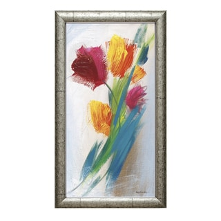 Lorena Karen Parker 'Bright Tulip Bunch l' 19 x 34 Framed Art Print
