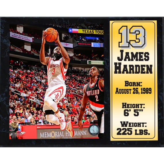 12X15 Stat Plaque - James Harden Houston Rockets