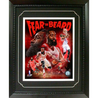 James Harden Houston Rockets 11 Inch X 14 Inch Deluxe Frame
