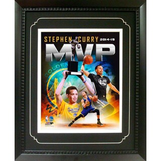 Stephen Curry Golden St Warriors MVP 11-inch x 14-inch Deluxe Frame