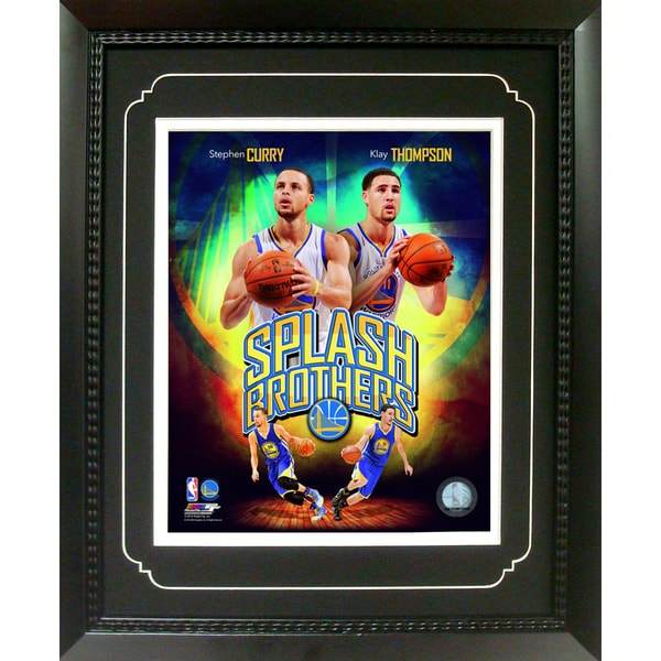 Curry/ Thompson Golden St Warriors 11-inch x 14-inch Deluxe Frame