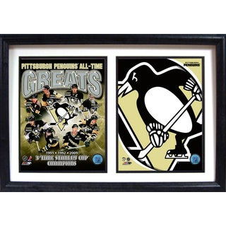 Pittsburgh Penguins Greats 12-inch x 18-inch Double Frame