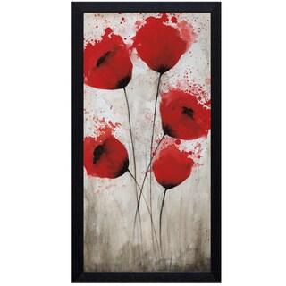 Catherine Brink 'Luminous Crimson l' 16 x 28 Framed Art Print