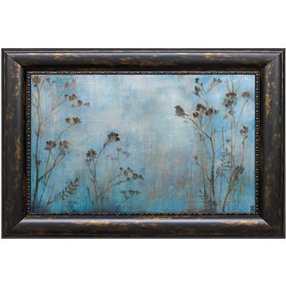 Stacy D'Aguiar 'Absence Of Sound' 40 x 28 Framed Art Print - Blue