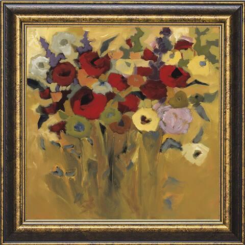 Jennifer Harwood 'Jewel Bouquet' 31 x 31 Framed Art Print