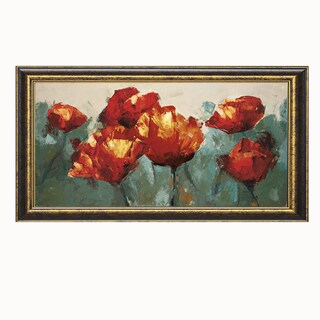 Peter Colbert 'Poppies On Slate' 40 x 22 Framed Art Print