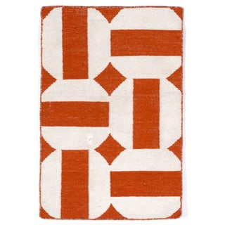 Stripe In Circle Outdoor Rug (2' x 3')
