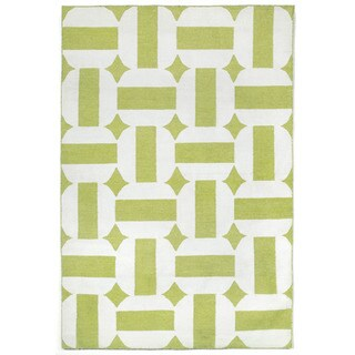 Stripe In Circle Outdoor Rug - 8'3 x 11'6