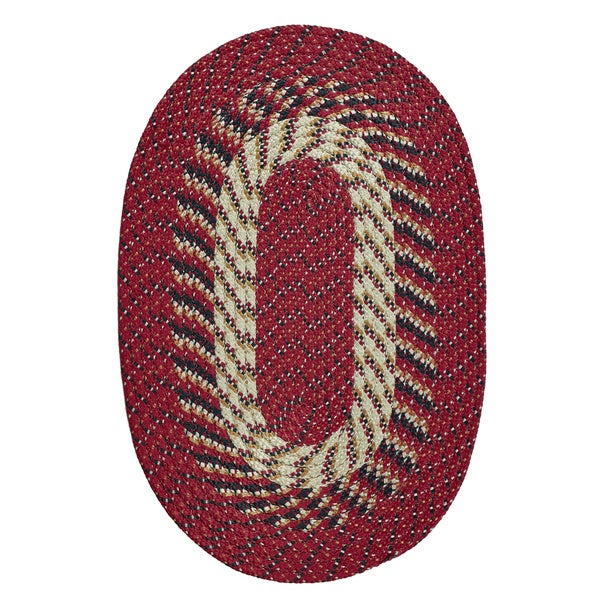 Stripe Indoor/ Outdoor Oval Braided Rug (5'4 x 8'4) by Better Trends - 5'4 x 8'4