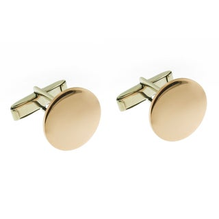 Handmade Highly Polished Copper Monogrammed Round Cuff Links (Mexico)