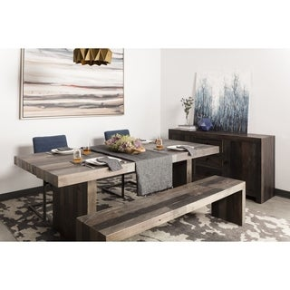 Aurelle Home Distressed Vintage Wash-finish Large Dining Table - Natural/Wood
