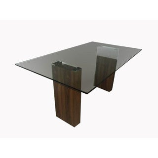 Aurelle Home Oslo Glass Dining Table