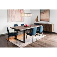 Aurelle Home Carin Large Solid Craftsman Dining Table - Brown