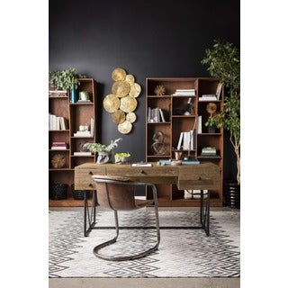 Aurelle Home Rustic Industrial Writing Desk