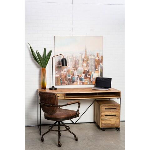 Aurelle Home Rustic Contemporary Mango Wood Desk