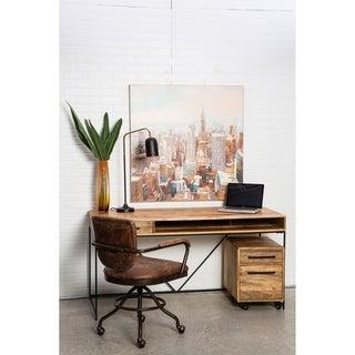 Aurelle Home Contemporary Iron and Mango Wood Beat Desk