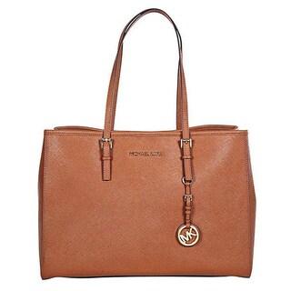 Michael Kors Jet Set Large Travel E/W Luggage Brown Tote Bag